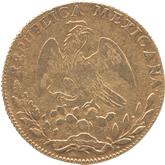 メキシコ 8エスクード金貨 法書とリバティーキャップ[F]