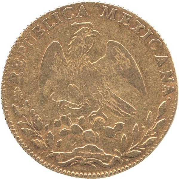メキシコ 8エスクード金貨デザイン【表面】