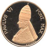 バチカン ローマ教皇パウロ6世 ゴールドメダル[UNC]