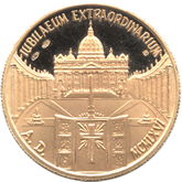 バチカン ローマ教皇パウロ6世 ゴールドメダル[UNC]【裏面】