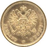 フィンランド大公国 ニコライ2世20マルカ金貨[AU/UNC]
