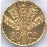 ウルグアイ 憲法100周年記念 20センテシモ試作金貨[PF UNC+]【裏面】