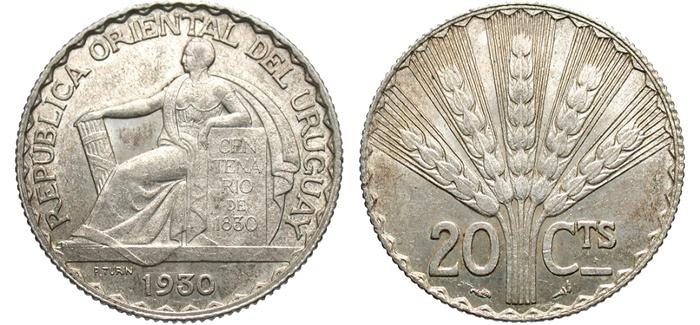 ウルグアイで発行された試鋳銀貨