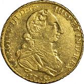 ペルー カルロス3世 8エスクード金貨[-VF]