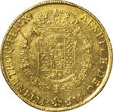 ペルー カルロス3世 8エスクード金貨[-VF]【裏面】