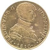 ペルー フェルディナンド7世 8エスクード金貨[AU/UNC]