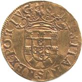 ポルトガル セバスティアン1世 500レイス金貨[-EF]【裏面】