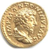 帝政ローマ アウレウス金貨  五賢帝マルクス・アウレリウス[EF]
