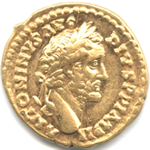 帝政ローマ アウレウス金貨 五賢帝アントニヌス・ピウス[-EF]