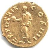 Roman Empire,  Antoninus Pius, Aureus[-EF]【Back side】