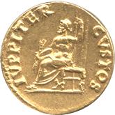 帝政ローマ  第5代皇帝ネロ アウレウス金貨[EF]【裏面】