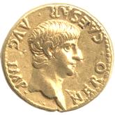帝政ローマ アウレウス金貨 第5代皇帝ネロ[VF]