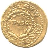 帝政ローマ アウレウス金貨 第5代皇帝ネロ[VF]【裏面】