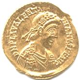 帝政ローマ ソリドゥス金貨  ウァレンティニアヌス3世[EF]