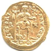 帝政ローマ ソリドゥス金貨  ウァレンティニアヌス3世[EF]【裏面】