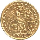 帝政ローマ  コンスタンティヌス1世 ソリドゥス金貨[EF]【裏面】