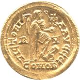帝政ローマ ソリドゥス金貨  皇帝ホノリウス[EF]【裏面】