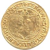 スペイン  バルセロナ 1トレンティ金貨 フェリペ3世[EF]