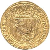 スペイン  バルセロナ 1トレンティ金貨 フェリペ3世[EF]【裏面】