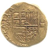 スペイン フェリペ2世 4エスクード金貨[F]【裏面】