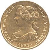 スペイン イサベル2世 100レアル金貨[EF]