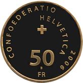 スイス 50フラン金貨 バチカンのスイス衛兵500年記念[PF FDC]【裏面】