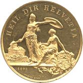 スイス フラウエンフェルト射撃祭記念  ゴールドメダル[EF+/UNC]
