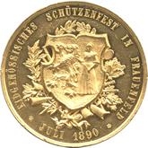 スイス フラウエンフェルト射撃祭記念  ゴールドメダル[EF+/UNC]【裏面】