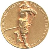 スイス ヴェインフェルデン射撃祭記念  ゴールドメダル[FDC]