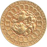 スイス ヴェインフェルデン射撃祭記念  ゴールドメダル[FDC]【裏面】