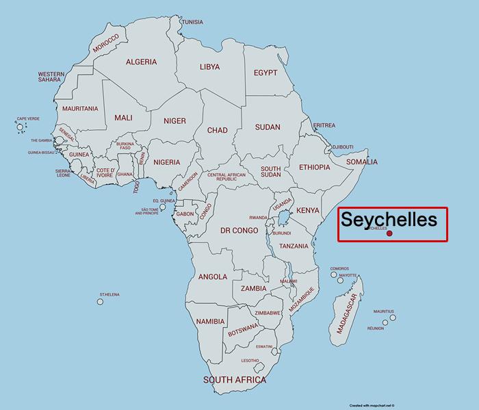 セーシェル地図