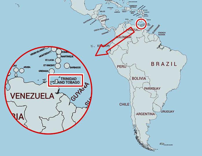 トリニダード・トバゴの地図