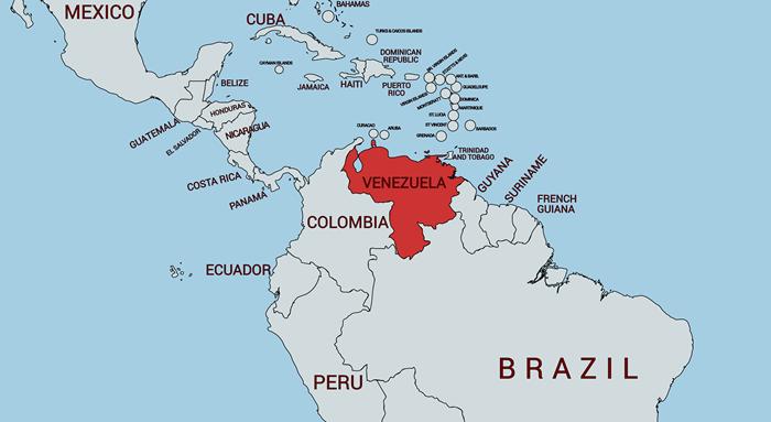 べネズエラの地図
