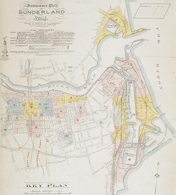 ウェア川(サンダーランド)の地図
