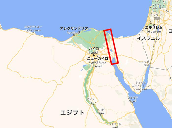 スエス運河の位置
