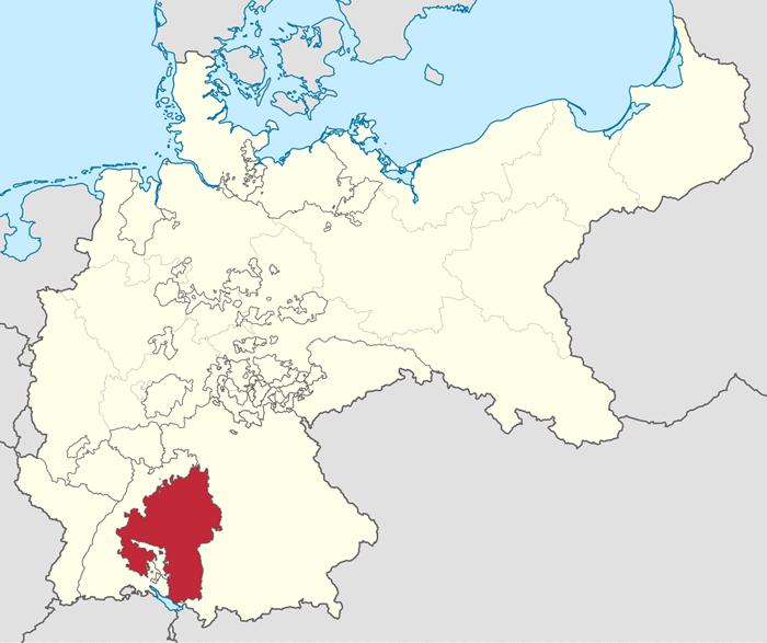 ヴュルテンベルクの地図