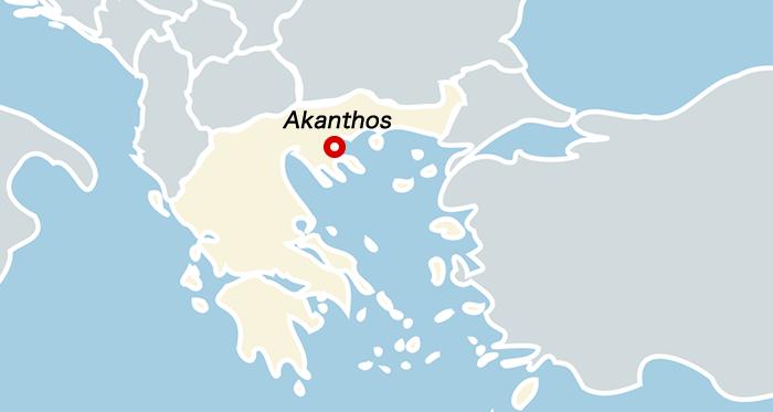 マケドニア・アカントス地図