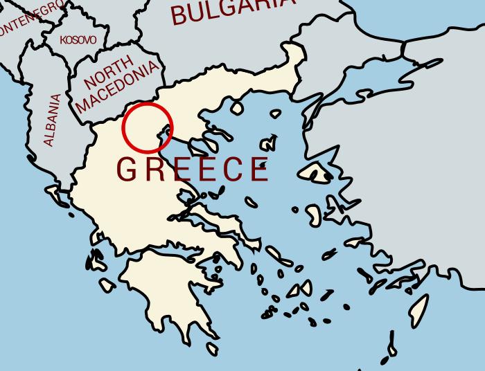 現在のギリシャ地図
