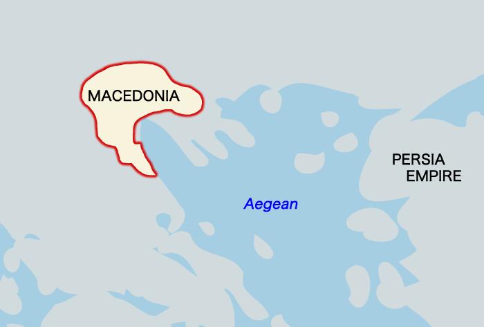 マケドニアの地図(紀元前430年頃)