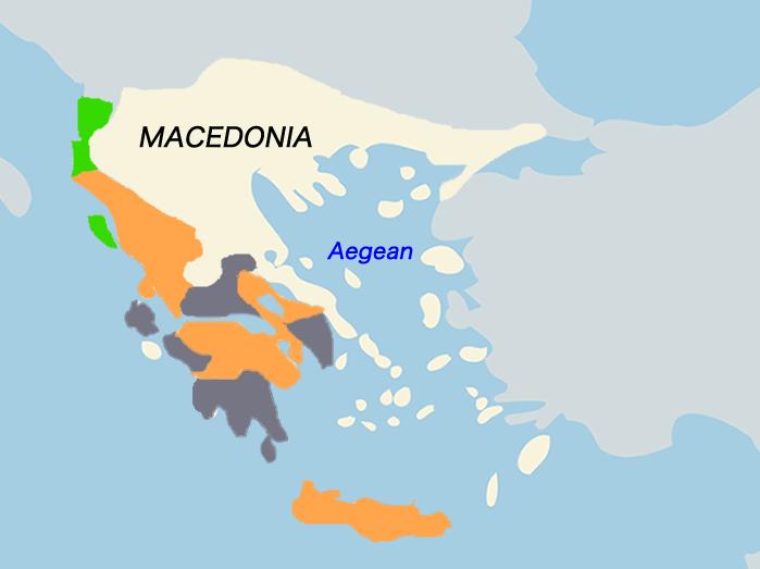 アンティゴノス朝マケドニアの地図