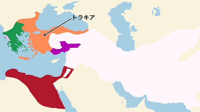 トラキア(Thrace)の地図