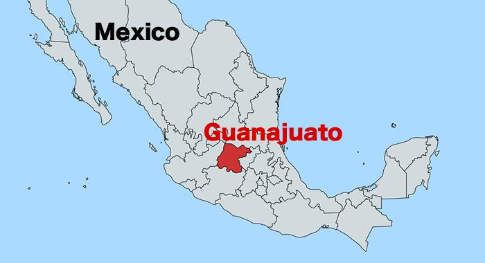 メキシコ・グアナフアト地図