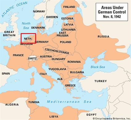 第二次世界大戦の勢力図(ナチスドイツ中心)