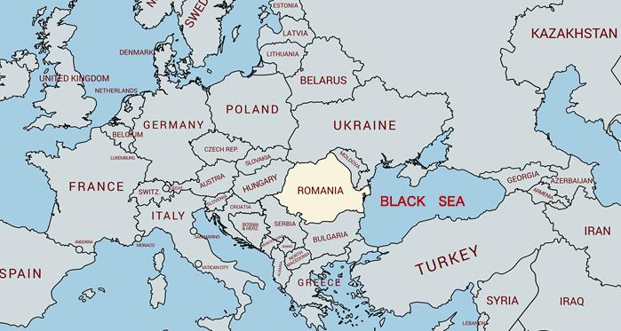現代のルーマニア地図
