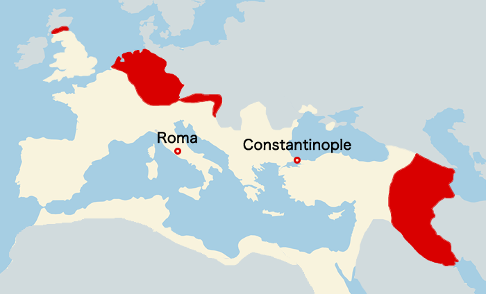 古代ローマ帝国の最大版図