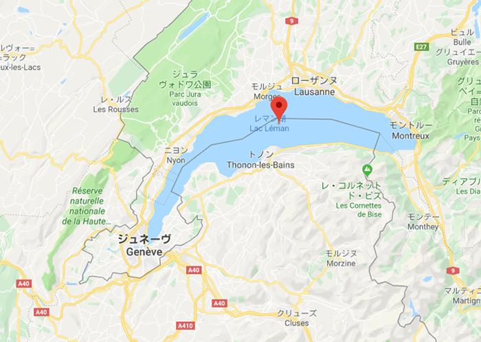 ジュネーブ周辺を拡大した地図