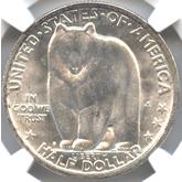 アメリカ ヒグマ(グリズリー)50セント銀貨[FDC]