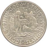 アメリカ 1/2ドル銀貨 ロードアイランド300年記念[UNC]