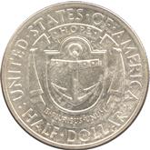 アメリカ 1/2ドル銀貨 ロードアイランド300年記念[UNC]【裏面】