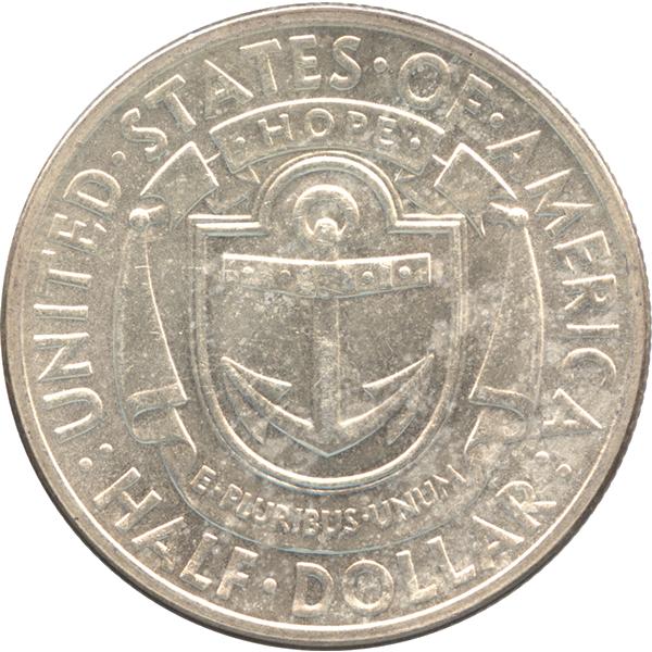 ロードアイランド300年記念銀貨のデザイン【裏面】